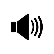 The Speaker Icon. Sound Symbol...
