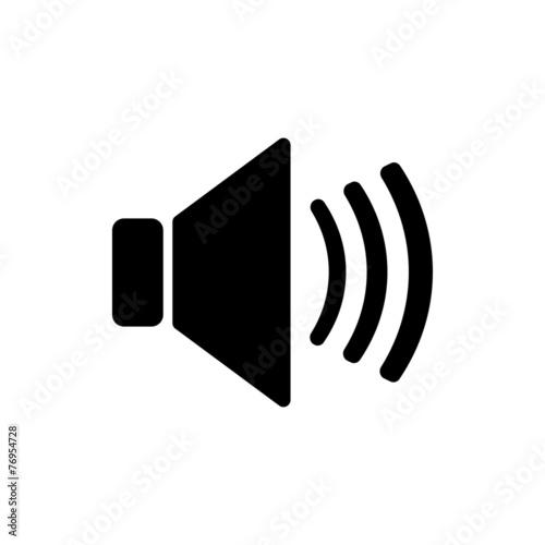 Fotografía  The speaker icon. Sound symbol. Flat