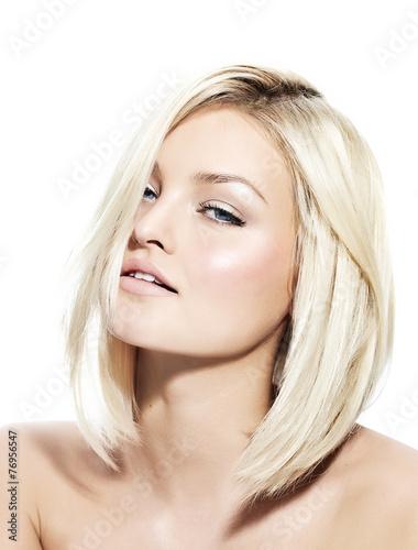 Papiers peints Salon de coiffure Blond Woman