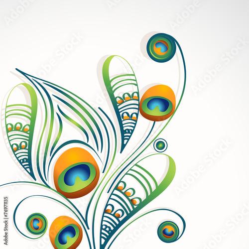 stylowy-kwiatowy-wzor-pawie-pioro-na-szarym-tle
