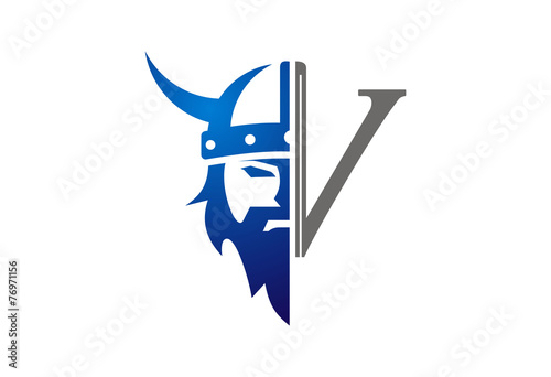 Fotografie, Obraz  Viking icon vector logo