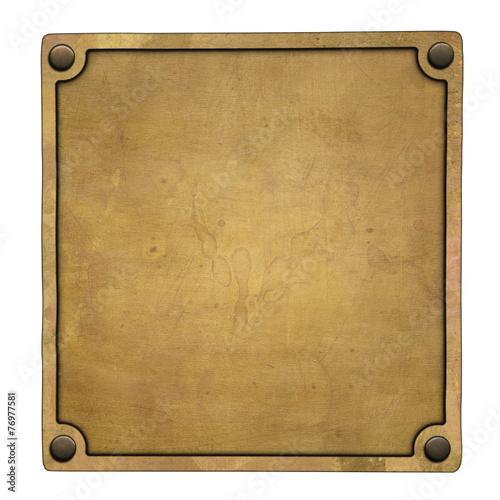 Fotografie, Obraz  Bronze plaque
