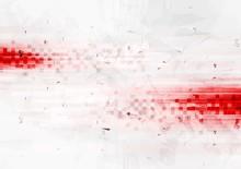 Grunge Red Hi-tech Background ...