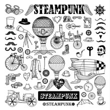 Steampunk Collection, Hand Dra...