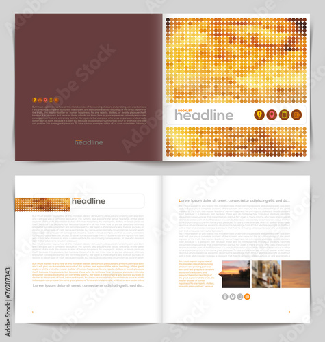 Template booklet design - cover and inside pages - Buy this stock ...