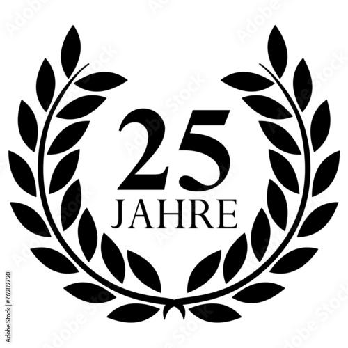 Poster  Lorbeerkranz. 25 jahre jubiläum