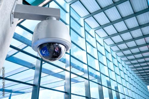 Obraz Security Camera, CCTV on location, airport - fototapety do salonu