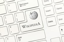 White Conceptual Keyboard - Wikipedia (key With Logotype)