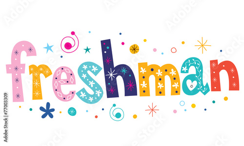 freshman text decorative lettering type design Canvas-taulu