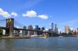 ブルックリンブリッジパークとマンハッタン