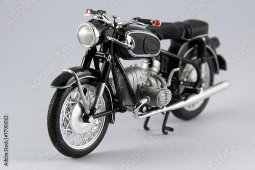Deurstickers Fiets Motocicleta antígua aislada en blanco