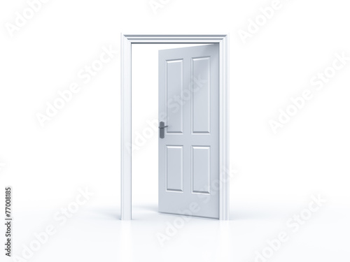 Fotografie, Obraz  opened door in white background