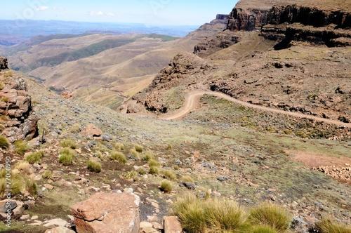 Foto op Plexiglas Zuid Afrika Drakenberge - Sani Pass - Südafrika