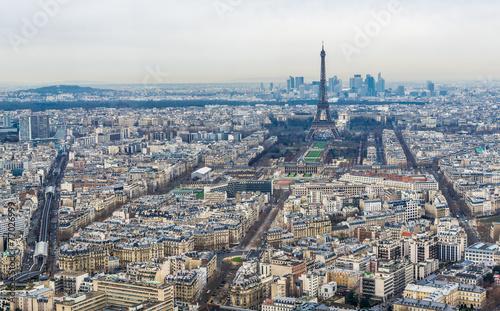 Papiers peints Paris モンパルナス・タワーから望むパリ市内