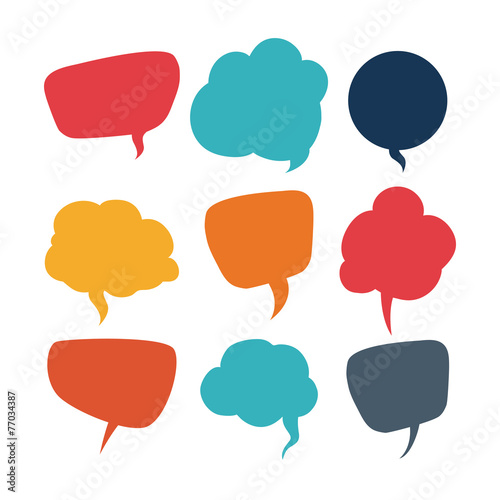 speech bubbles communication Fototapet