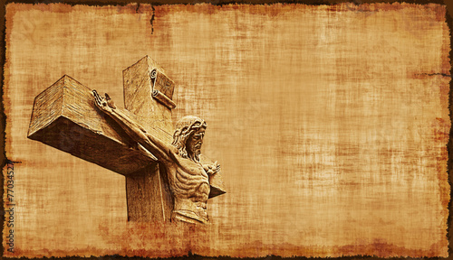 Crucifixion of Jesus Parchment - Horizontal