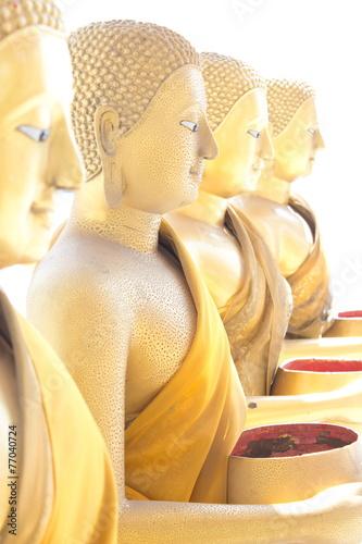 Foto op Plexiglas Indonesië Buddha statues at the temple public Thailand
