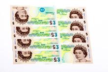 British Five Pound Notes