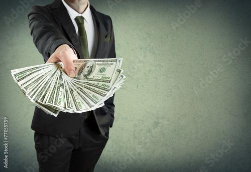 Cuadros en Lienzo  Préstamo bancario, o el concepto de dinero en efectivo