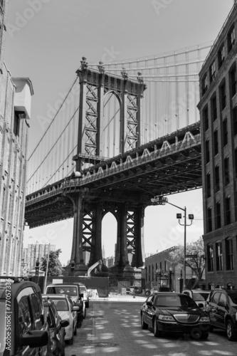manhattan-bridge-nowy-jork-usa-retro-fotografia