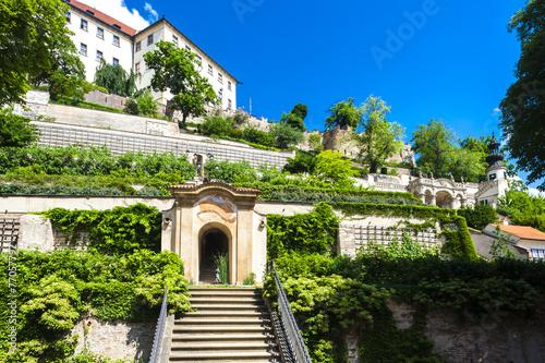 Ledeburska Garden and Prague Castle, Prague, Czech Republic Poster
