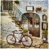 old streets of italy, artistic vintage picture