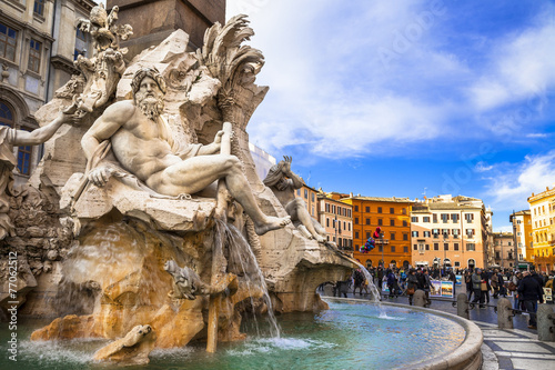 Canvas Prints Rome Rome - beautiful piazza Navona