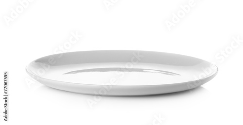 Cuadros en Lienzo Empty plate isolated on a white background