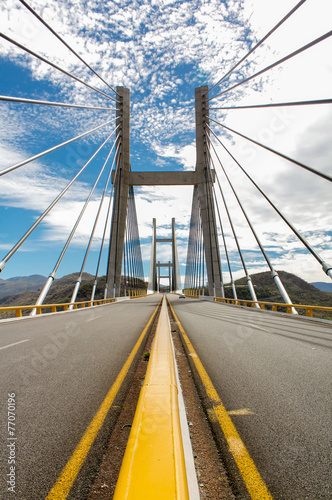 Fotografia, Obraz  Bridge on the highway from Mexico city to Acapulco vertical