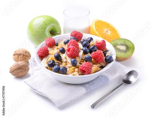 In de dag Buffet, Bar Breakfast with muesli and fruit