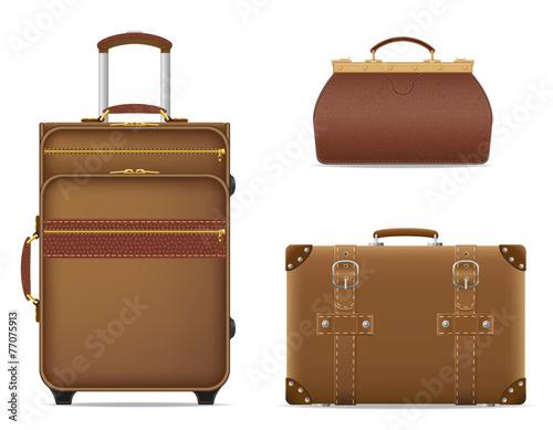 Slika na platnu set icons travel bags vector illustration