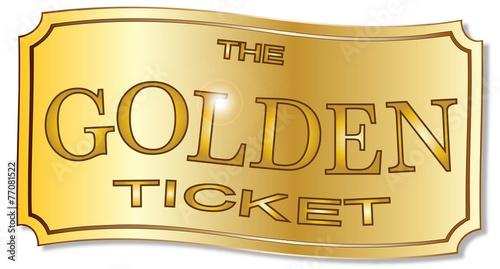 Cuadros en Lienzo The Golden Ticket