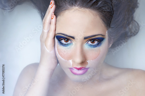 Fotografie, Obraz  Look eyes color water