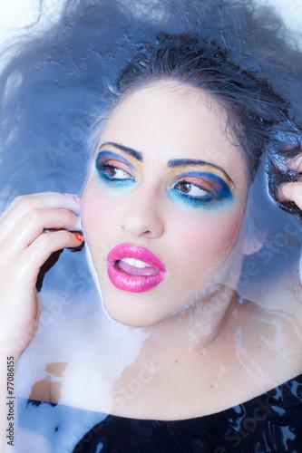 Fotografie, Obraz  Water color girl look