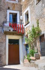 Fototapeta na wymiar Alleyway. Morano Calabro. Calabria. Italy.