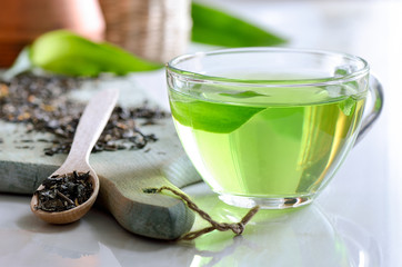 Fototapeta Green spa tea