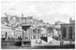 canvas print picture - Victorian engraving of an ancient view of the Agora at Athens