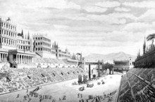 Victorian Engraving Of The Circus Maximus, Rome