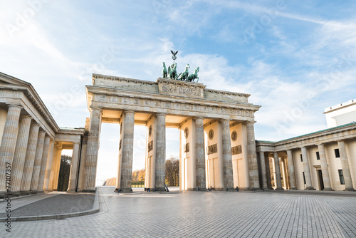 Fotobehang Berlijn Brandenburger Tor In Berlin