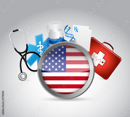 us health insurance concept illustration design Tablou Canvas