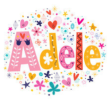 Adele Female Name Decorative L...