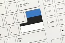 White Conceptual Keyboard - Estonia (key With Flag)