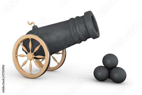 Old Pirate Cannon Wallpaper Mural