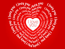 I Love You Heart, Valentine's Day Greeting Card