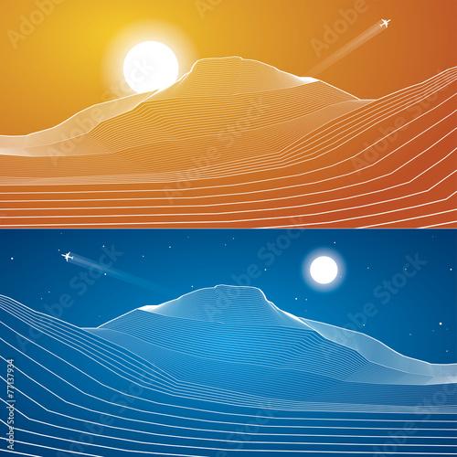White lines, abstraction, mountains, sand dunes – kaufen Sie diese ...
