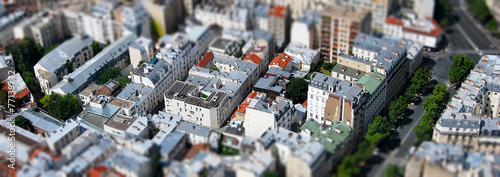 Photo Paris vue aérienne tilt shift