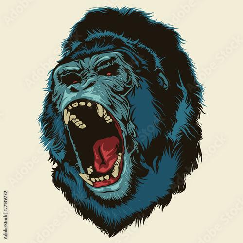Angry Gorilla Head Fototapeta