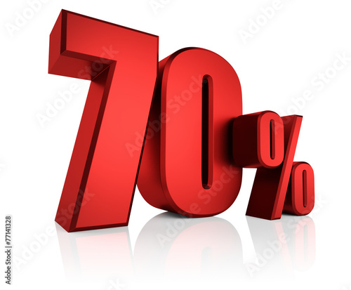 Photographie  Red 70 Percent