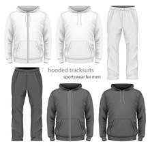 Men Hooded Tracksuit.