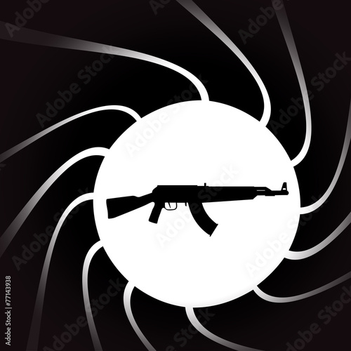 Foto  Vector illustration of weapons.